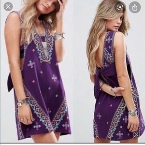 Free people embroidered dress small, new with tag